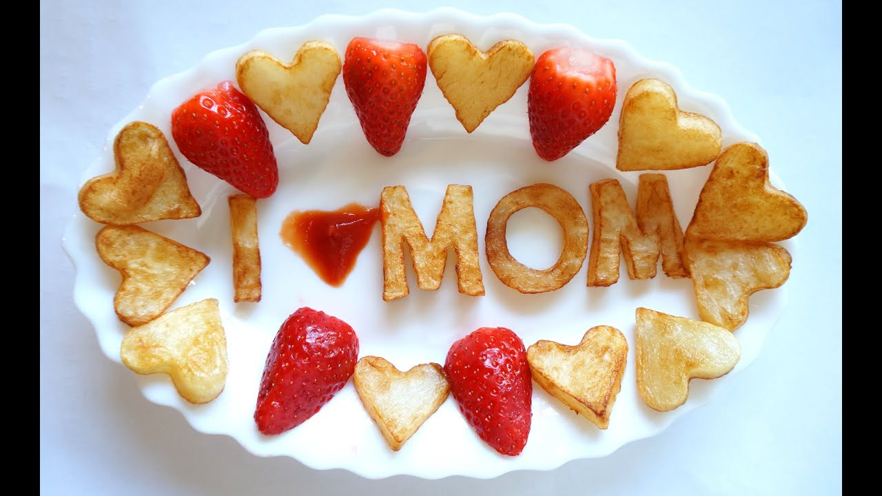 Mothers Day Food Beautiful How to Make I Love Mom Easy Recipe Cooking Food Best